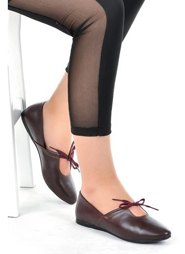 Ayakland Ayakland 1920-1152 Cilt Günlük Anatomik Bayan Babet Ayakkabı Bordo